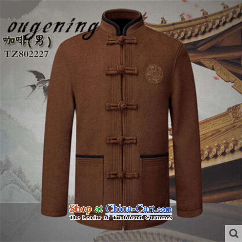 The name of the 2015 autumn of the OSCE in the new new new elderly couples Tang dynasty men's woolen a grandfather replacing old grandma shirt wine red jacket female聽Euro 170, the grid (ougening lemonade) , , , shopping on the Internet