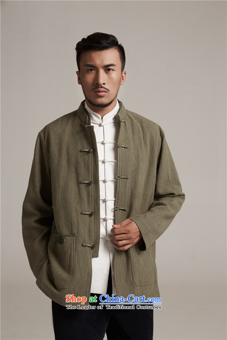 Fudo align de de Chinese improved color flip sleeve men in Tang Dynasty robe older leisure stay jacket China wind聽loading of new products by 2015 Autumn yellow green聽XL/48 picture, prices, brand platters! The elections are supplied in the national character of distribution, so action, buy now enjoy more preferential! As soon as possible.