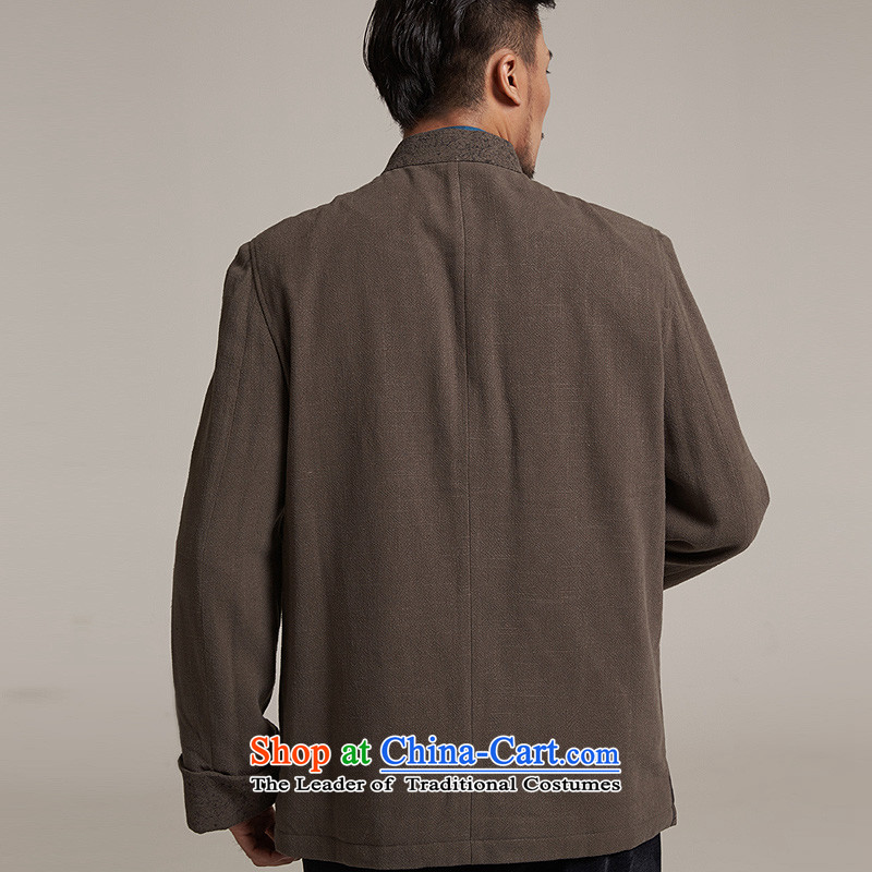 Fudo de saint de聽2015 autumn and winter new products men Tang dynasty China wind men robe older leisure Tang Dynasty to warm jacket, gray and green聽3XL/52, de fudo shopping on the Internet has been pressed.