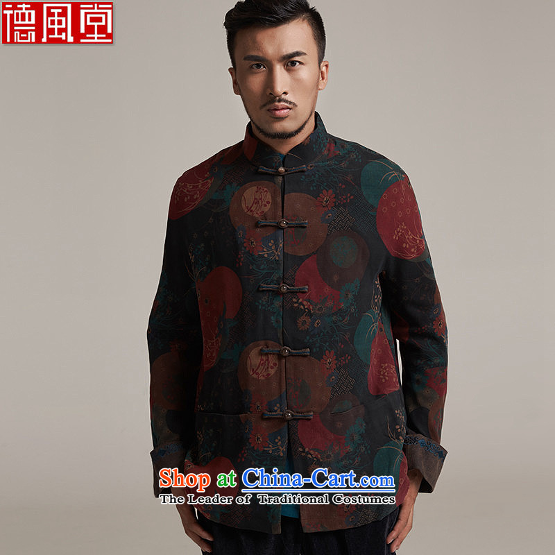 Fudo days right De Xiang Yun yarn Tang jackets Chinese embroidery was under renovation as China wind men Tang dynasty� 2015 autumn and winter new products燲L_48 color