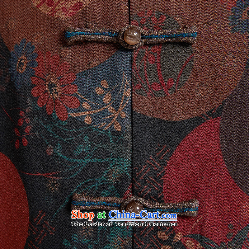 Fudo days right De Xiang Yun yarn Tang jackets Chinese embroidery was under renovation as China wind men Tang dynasty聽 2015 autumn and winter new products color聽XL/48, de fudo shopping on the Internet has been pressed.