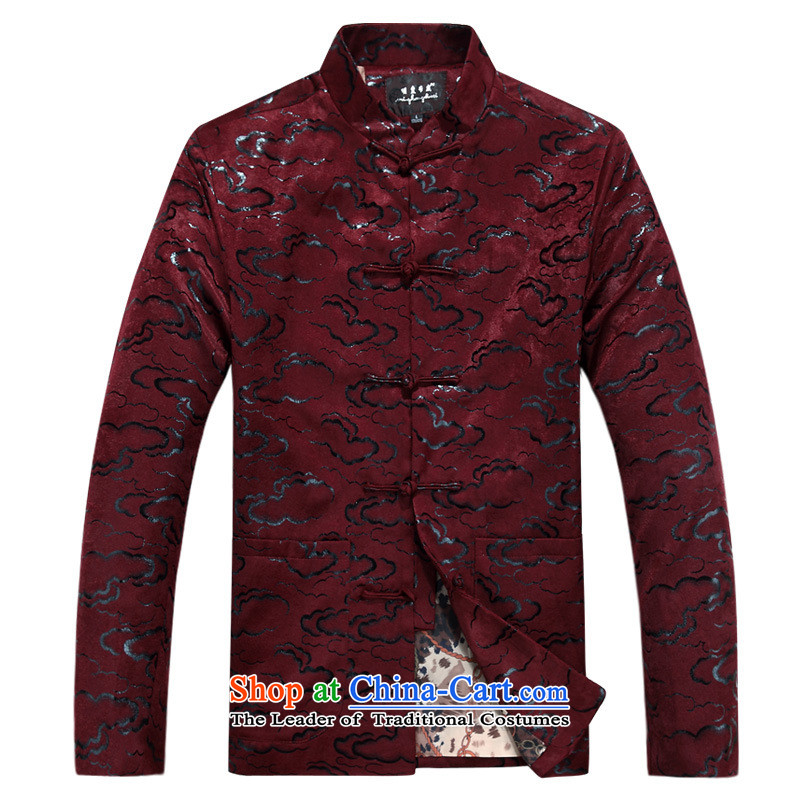 In the Tang dynasty male jacket Older long-sleeved sweater Chinese national costumes father replace English thoroughbred燲XSTOXL_