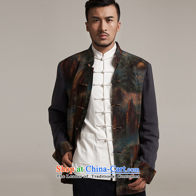 Fudo de fall/winter day video 2015 new products silk men Tang dynasty China wind men robe older leisure jacket warm high-end original picture color M/44, de fudo shopping on the Internet has been pressed.