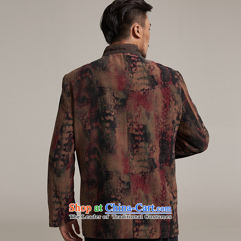 Fudo days the cardinal de聽2015 autumn and winter new products men Tang dynasty China wind men robe older leisure jacket warm high-end original color聽L/46, de fudo shopping on the Internet has been pressed.