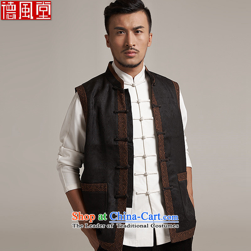 Fudo log-de-cloud yarn upscale male Tang dynasty improvement, a leisure in Sau San shoulder windproof warm China wind?M/44 black