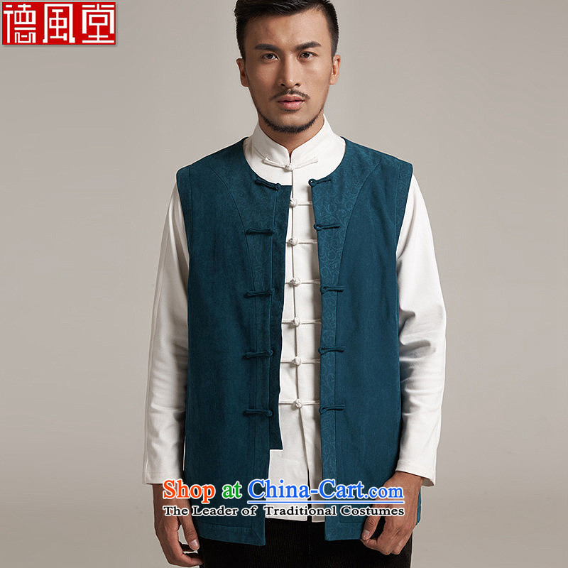 De Fudo Tang dynasty, Thick), a Chinese Kampala shoulder China wind men?fall 2015 new products Chinese clothing?2XL/50 blue and green