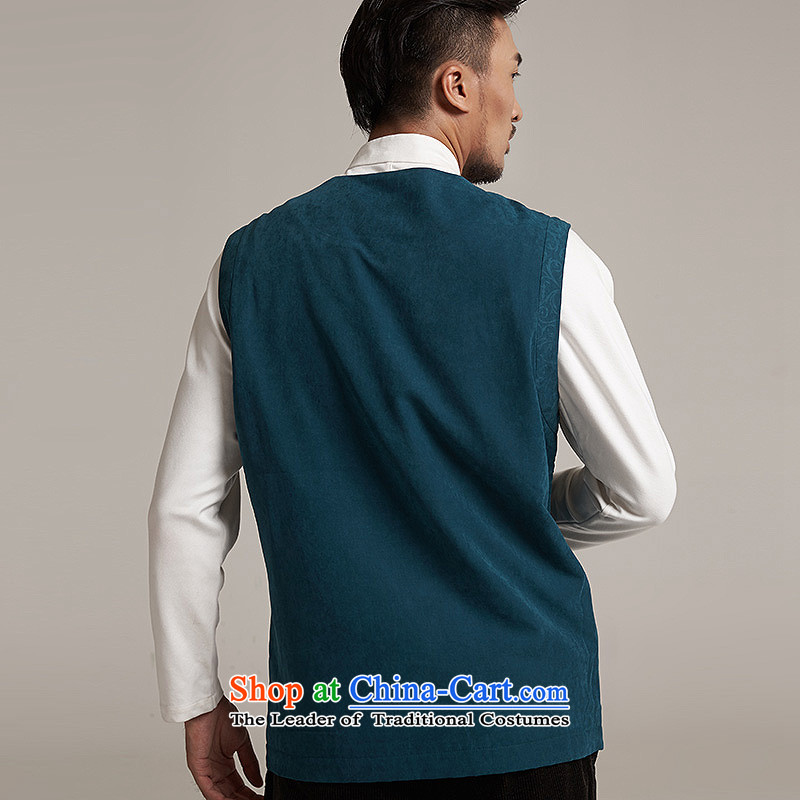 De Fudo Tang dynasty, Thick), a Chinese Kampala shoulder China wind menfall 2015 new products Chinese clothing blue and green2XL/50, de fudo shopping on the Internet has been pressed.