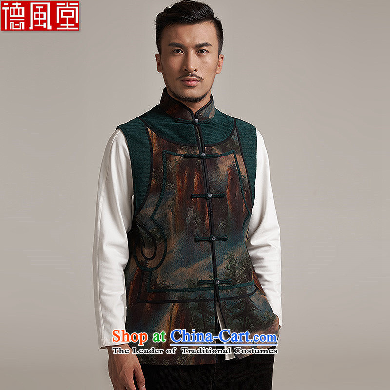 Fudo de to cloud of incense yarn upscale male Tang Gown, a leisure in improved shoulder windproof warm China wind聽XL_48 Suit
