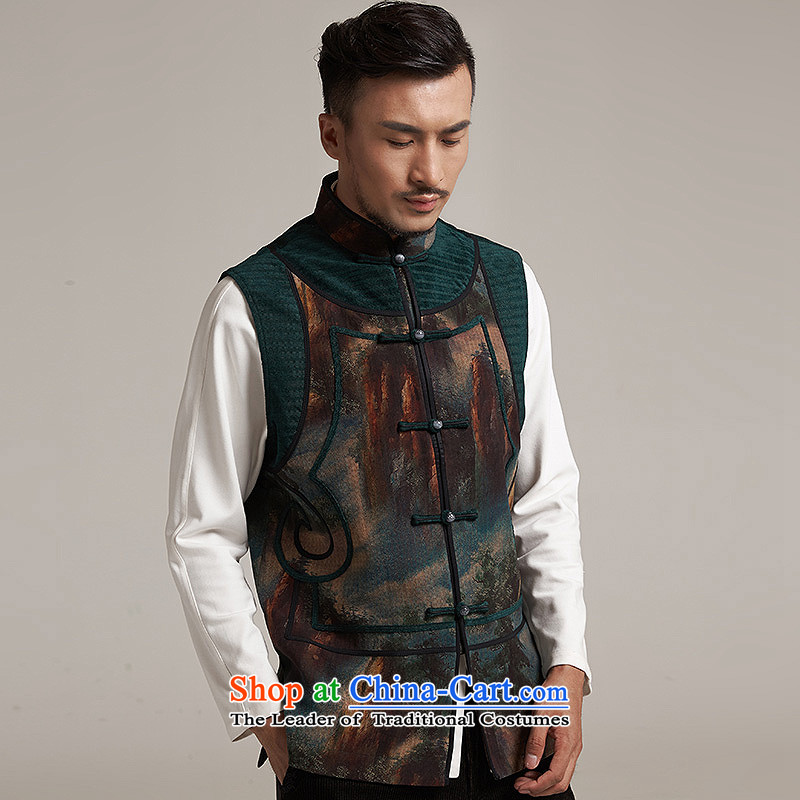 Fudo de to cloud of incense yarn upscale male Tang Gown, a leisure in improved shoulder windproof warm China wind suit聽XL/48, de fudo shopping on the Internet has been pressed.