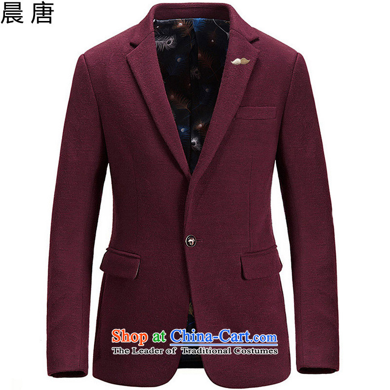 Morning Tang in summer and autumn 2015 replace national costumes and gross? jacket a wool coat Tang Dynasty Chinese tunic 68.26 wine red M