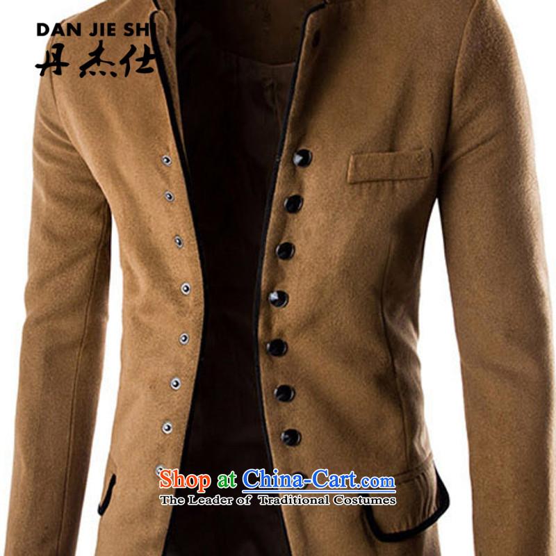 Dan Jie Shi 2015 Autumn new gross Small suit male fashion?   Chinese tunic Korean Youth Sau San Mock-neck pure cotton jacket black聽, L, Dan Jie Shi (DAN JIE SHI) , , , shopping on the Internet