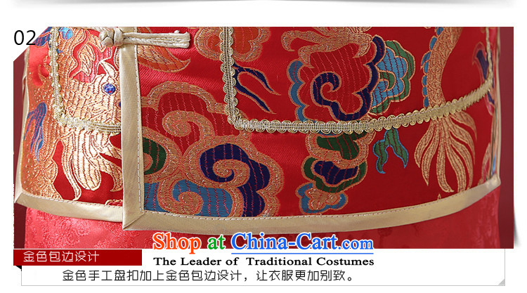 The Syrian Chinese style wedding dresses time men and Tang Dynasty style robes traditional marriage Sau Wo service men costume of the bridegroom clothing bows services red L picture, prices, brand platters! The elections are supplied in the national character of distribution, so action, buy now enjoy more preferential! As soon as possible.
