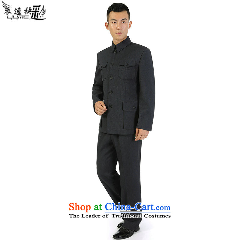 Yi Yi area in older men also Chinese tunic kit retro business and leisure package lapel loose older persons jacket classic two kits Because five holes out 72, Yi Yi map color area also has been pressed shopping on the Internet