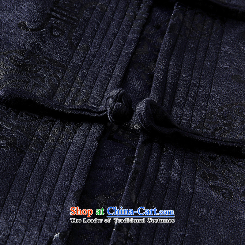 Yi Yi area also men Tang jackets in elderly men Chinese clothing China wind in the national costumes of older men's Mock-neck tray snap Chinese tunic Tang dynasty 64 76 06聽175, blue yi yi area also has been pressed shopping on the Internet
