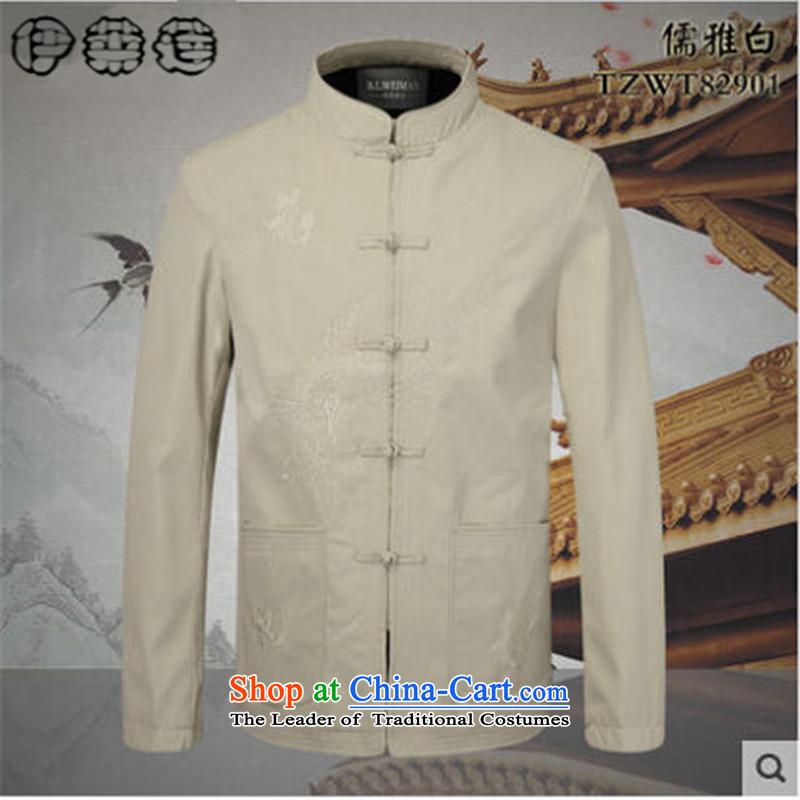 Hirlet Ephraim Fall 2015 new retro China wind men men Chinese father add cotton waffle long-sleeved shirt Tang dynasty kung fu jacket black cotton plus聽170, Electrolux Ephraim ILELIN () , , , shopping on the Internet