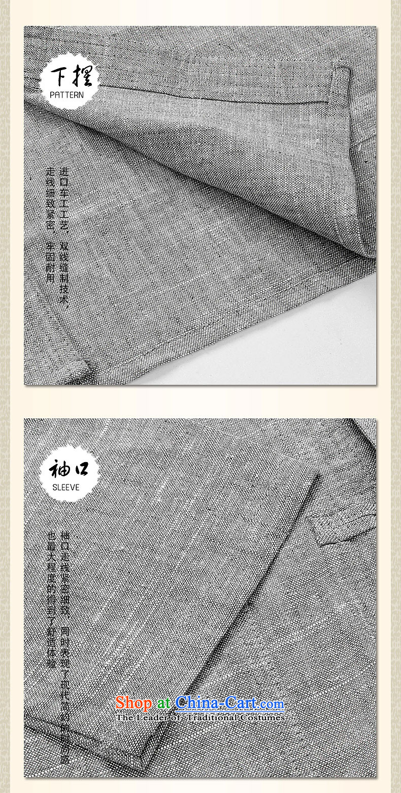 Hirlet Ephraim Fall 2015 New China wind in older men men's Chinese Tang dynasty retro long-sleeved shirt with Father Kung Fu Classic suite ma gray photo, the price, and S brand platters! The elections are supplied in the national character of distribution, so action, buy now enjoy more preferential! As soon as possible.