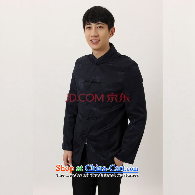 Shanghai, optimization options in Tang Dynasty older collar China wind dress too Shou Yi wedding services will Chinese male Tang Jacket?-B Black?XL