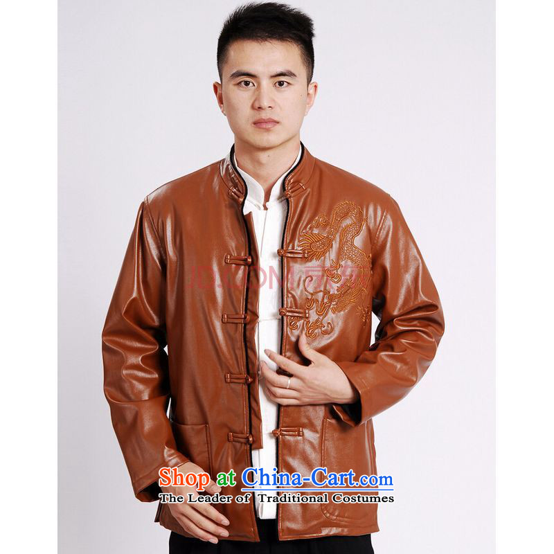 Shanghai, optimization options Tang Dynasty Men long-sleeved sweater Tang blouses men's leather jacket water Sable Hair Tang dynasty leather garments plus black聽XL, Shanghai, lint-free optimization options , , , shopping on the Internet