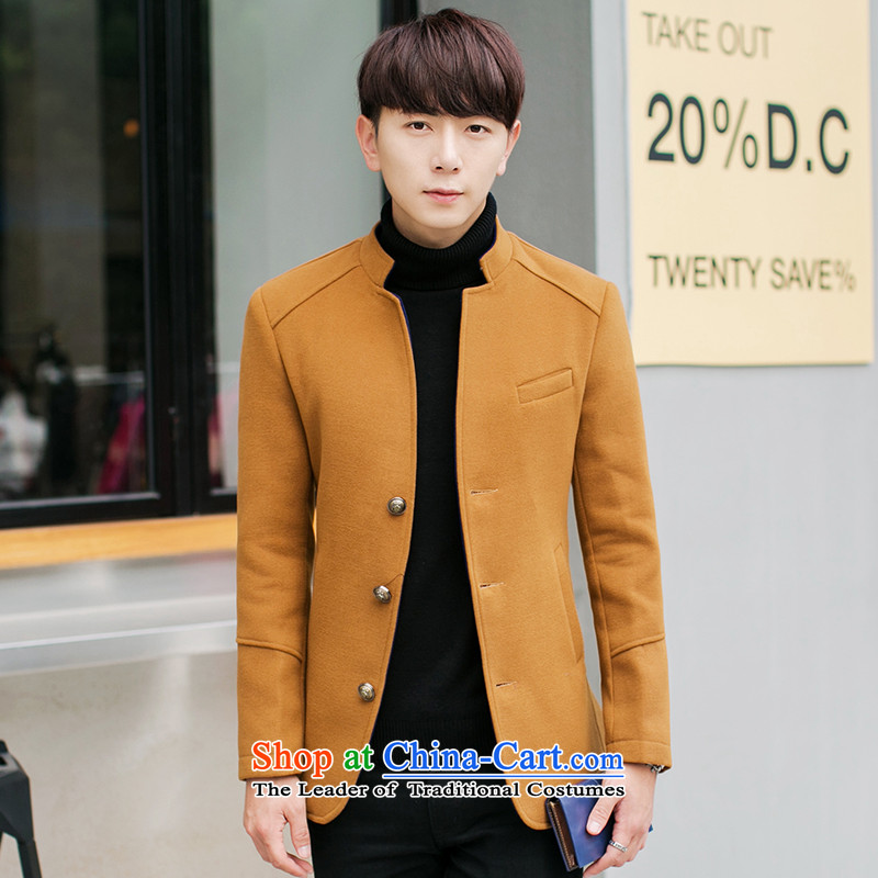 The Korean version of winter K328I Sau San Mock-neck gross? men jacket Chinese tunic khaki 4XL,K328ICACNE,,, shopping on the Internet