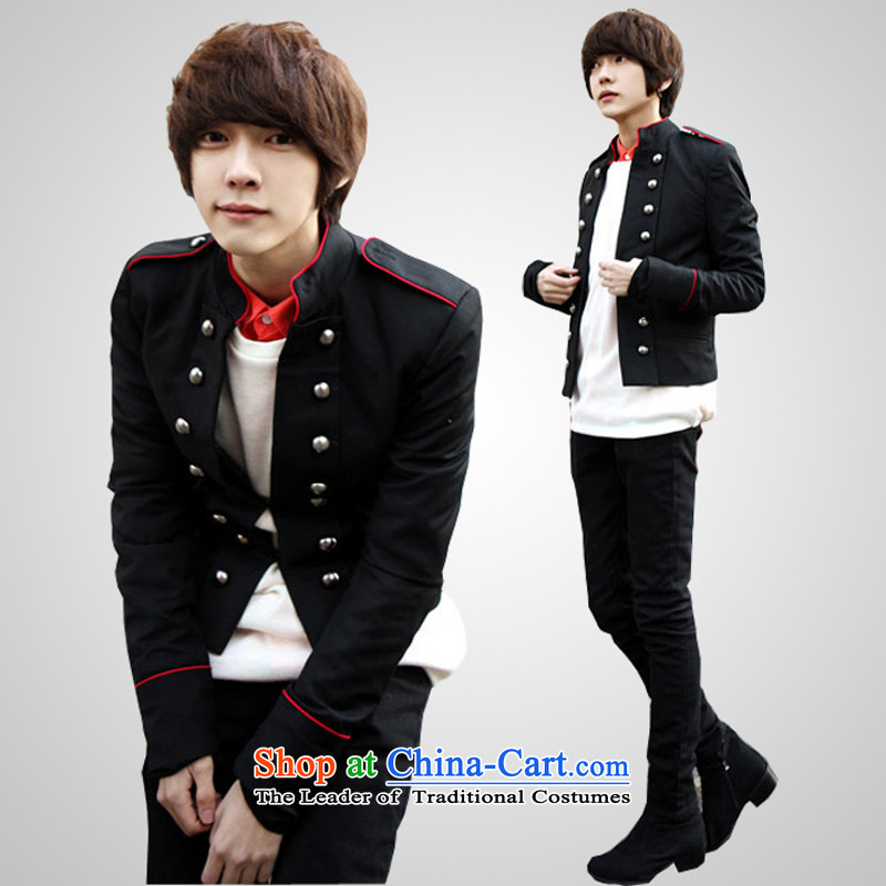 The Passionate colleges and universities PREPPY UYUK Chun Man leisure suit Korean Youth Chinese tunic of school uniforms to Sau San male and double-personality small jacket silver red edge XXL