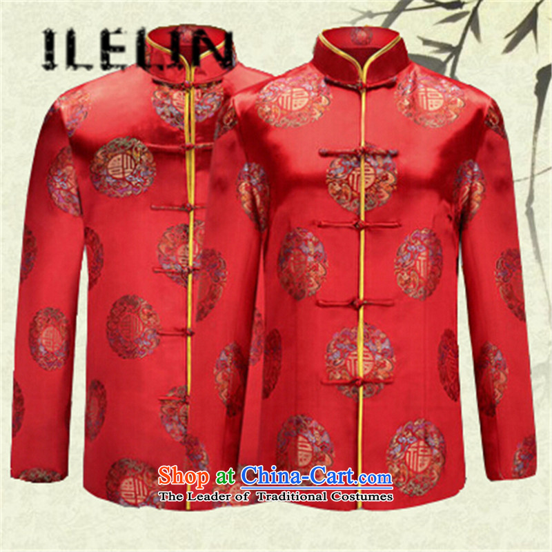 The fall of the new father ILELIN2015 replacing mother in Tang elderly couples with the life happy birthday people blouses jacket red female?XXL