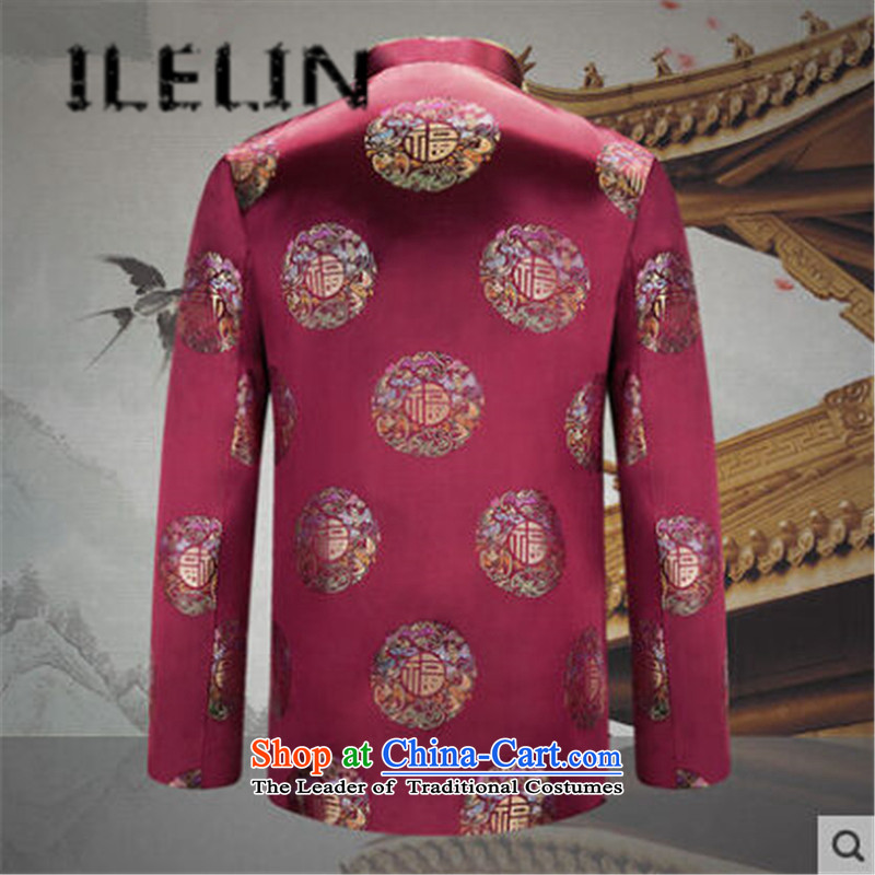 The fall of the new China ILELIN2015 wind load retro mother Tang father jackets Birthday Celebrated attired in the life of the elderly couple shirt and contemptuous of male聽XL,ILELIN,,, Purple Shopping on the Internet