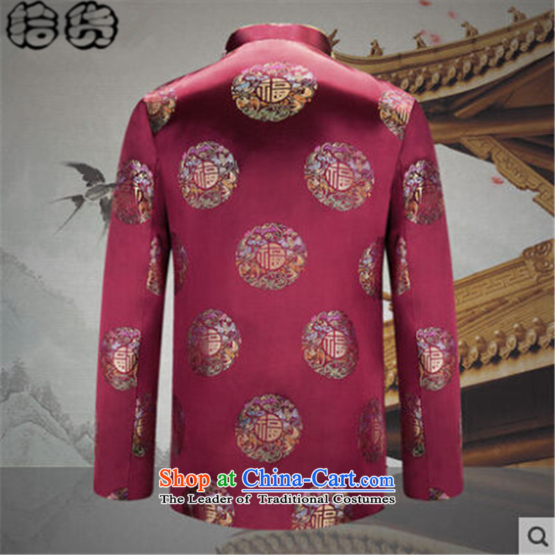 The 2015 autumn pick new older women and men in Tang Dynasty couples happy taxi birthday wedding Long-sleeve elderly Chinese Tang jackets Tang dynasty, noble men and women first femaleXL, pickup (shihuo) , , , shopping on the Internet