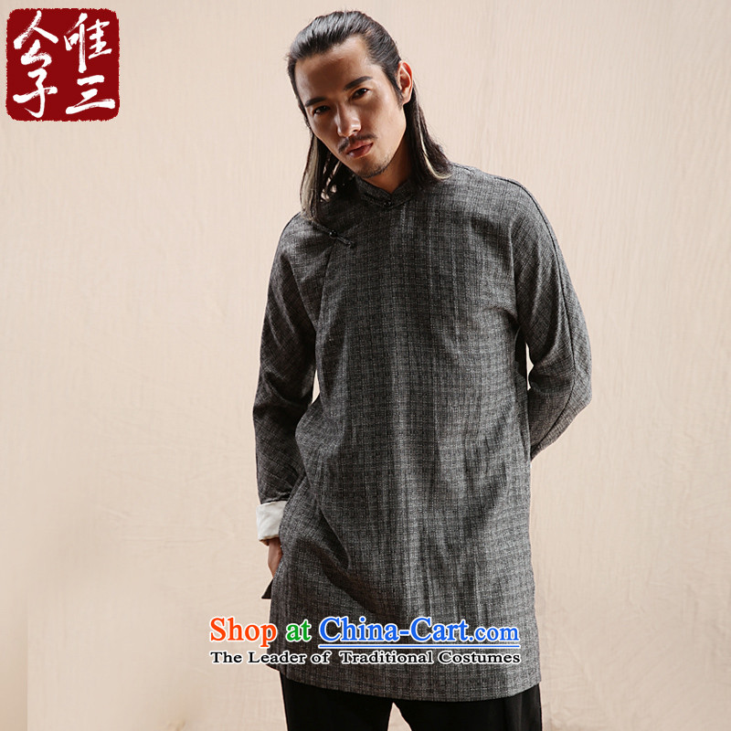 Cd 3 model non-tapping China wind linen men Hon Ma Chinese jacket leisure Tang dynasty ethnic Han-yi Chau New Black Wind?165/84A(S)