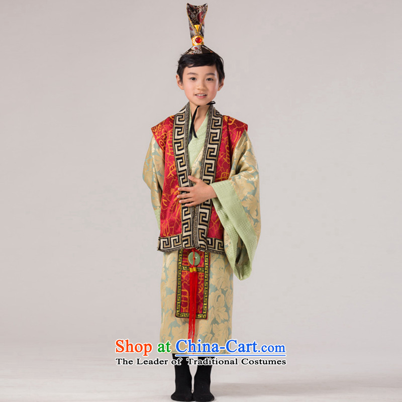 The Syrian children costume of time during the Han dynasty. Will the ancient boy Tang Dynasty Prince Edward Han Dynasty Annual King costumes and Tang dynasty Han-red�0CM
