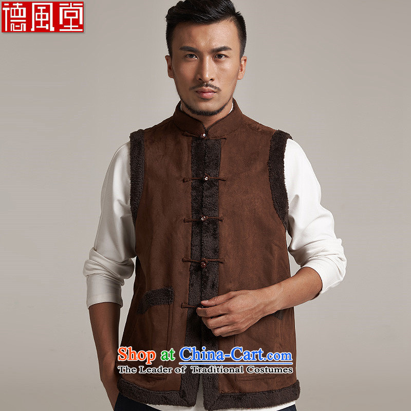 De Fudo yoshiyo deerskin lint-free men Tang Gown, a leisure in improved shoulder windproof warm China wind card its聽XL_175