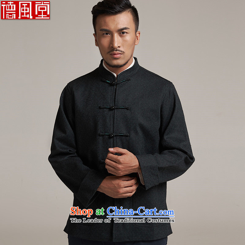 Fudo de in the wool men Tang dynasty China Wind Jacket燼utumn 2015 new products Chinese clothing China wind�L_185 green