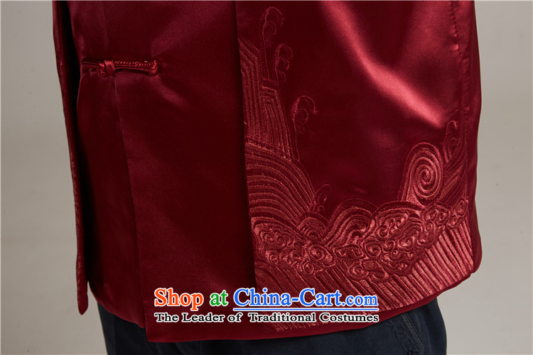 Tak Sun and Fudo China wind Men's Jackets Tang Gown robe 2015 autumn and winter middle-aged long-sleeved red load new father2XL/175 picture, prices, brand platters! The elections are supplied in the national character of distribution, so action, buy now enjoy more preferential! As soon as possible.