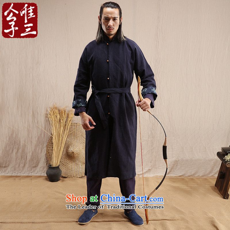 Cd 3 model radio Airwolf China wind linen male Han-Ma Chinese Tang Dynasty Recreation windbreaker national jacket Han-Cheong Wa聽180_96A_XL_ Akikura