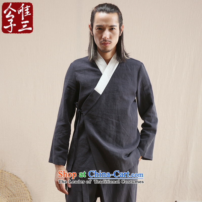 Cd 3 of the jian Han Model China wind linen men Hon Ma Chinese jacket leisure Tang dynasty ethnic Han-Shirt Akikura Tsing聽180_96A_XL_