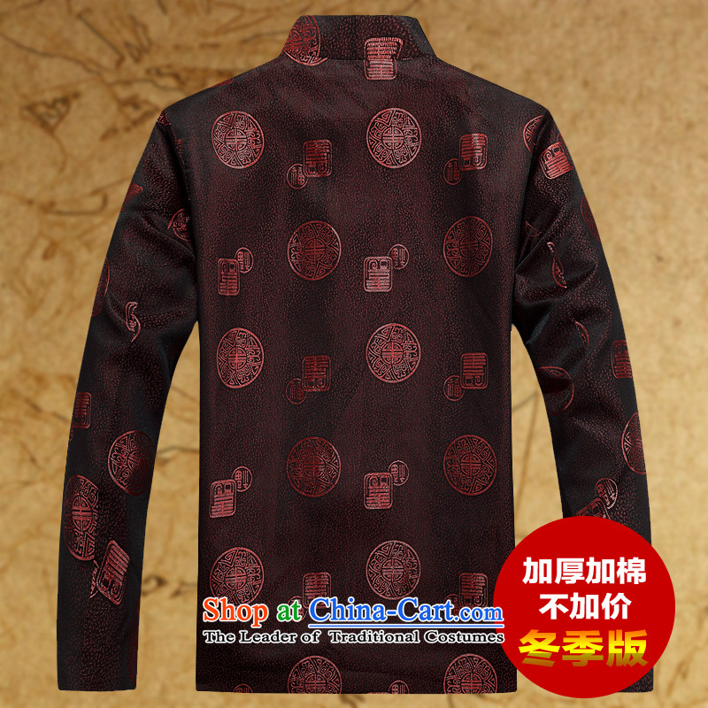 Replacing men Tang grandpa jacket thick coat in the autumn and winter Older long-sleeved jacket plus units Tang jacket and coffee-colored聽170,JACK EVIS,,, shopping on the Internet