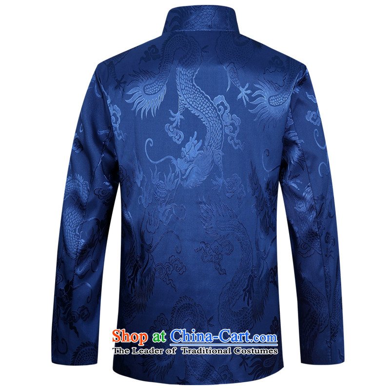 Ming Emperor Wei 2015 new autumn and winter men in Tang Dynasty older China Wind Jacket Chinese father unlined garment replacing replacing traditional ethnic grandpa tray snap happy leisure fu shou wine red cotton 185(XXXL), Ming Emperor Of The Verisign ,