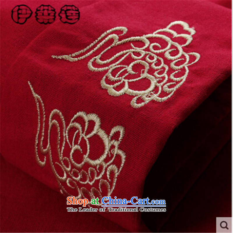 Hirlet Ephraim聽Fall 2015 New Product Men China wind long-sleeved blouses father grandfather Tang replacing embroidery Xiangyun of older persons in the chinese black T-shirt jacket聽175 Yele Ephraim ILELIN () , , , shopping on the Internet