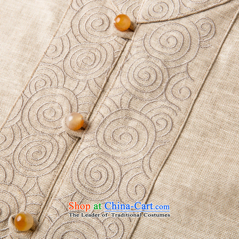 Bosnia and new products during the spring and autumn line thre middle-aged men hedging cotton linen long-sleeved Tang China wind in older embroidery collar Tang blouses聽F7758聽carbon聽M/170, thre line (gesaxing and Tobago) , , , shopping on the Internet