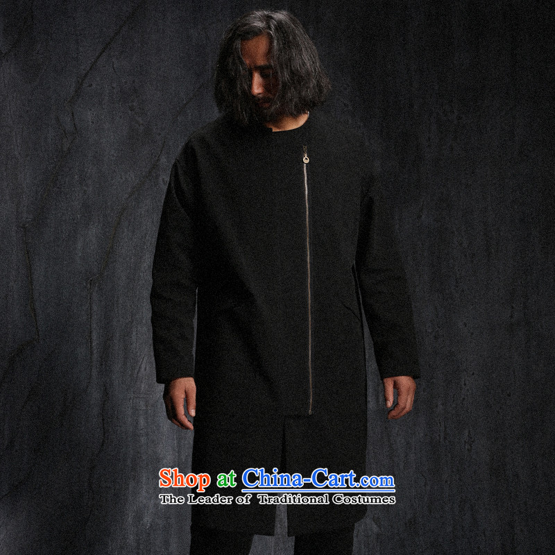 Custom (Sui Tang as deep-wang beast/China wind a door zip male topcoat cheongsams autumn new black beast, L, pre-sale hall.... shopping on the Internet