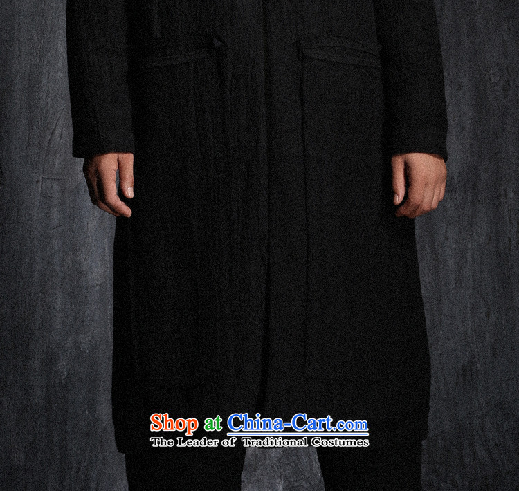 Custom (Sui Tang as virtual pole beast/China wind long linen coat Tang jackets men fall new black pre-sale prices, pictures, M brand platters! The elections are supplied in the national character of distribution, so action, buy now enjoy more preferential! As soon as possible.