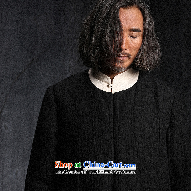 Custom (Sui Tang as virtual pole beast/China wind long linen coat Tang jackets men fall new black pre-sale M Rui beasts of the Church , , , shopping on the Internet
