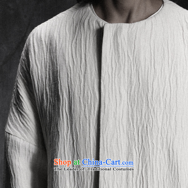 Custom (Sui Tang as water tap beast/China wind minimalist long linen Tang jackets men fall new white pre-sale , M, veterinary Church , , , shopping on the Internet