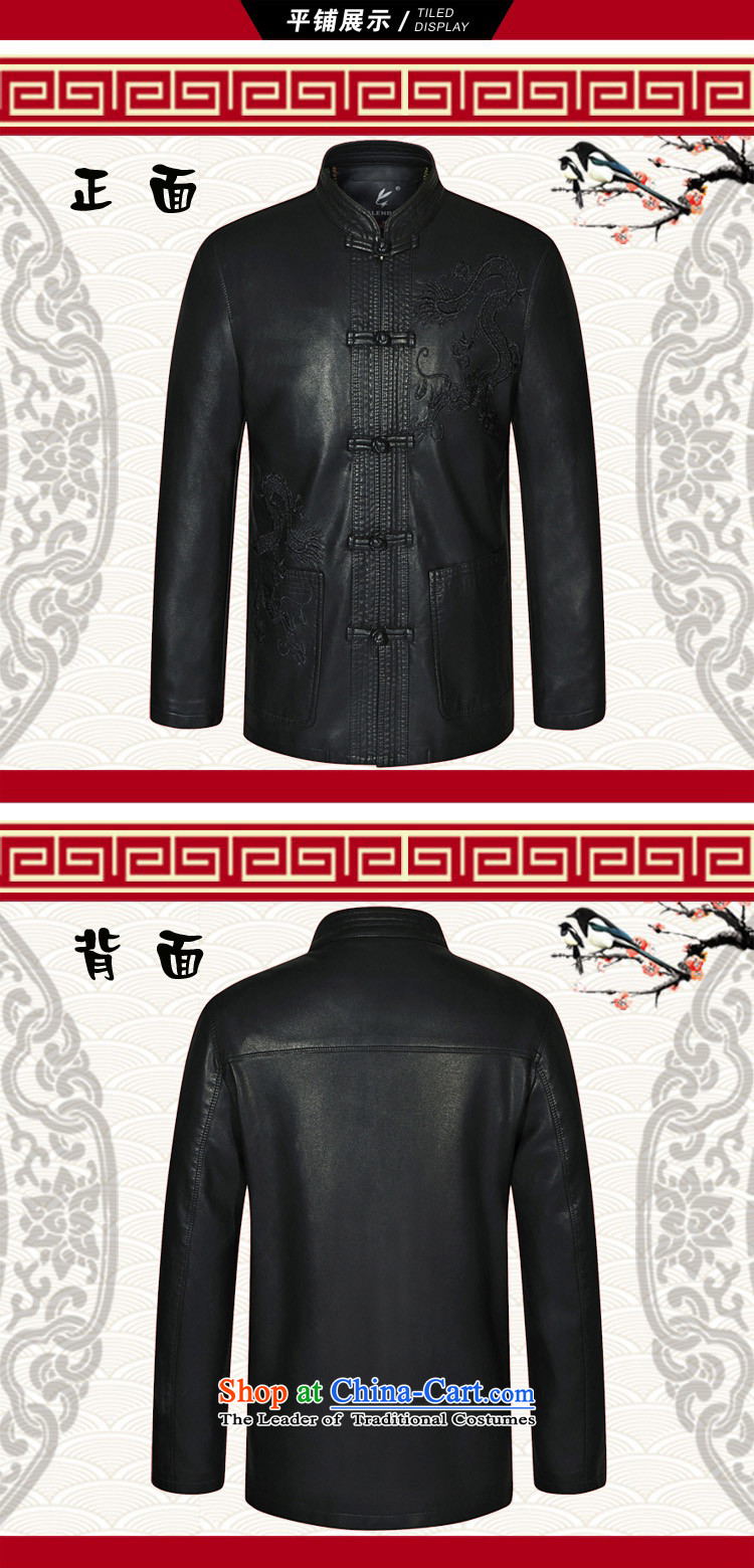 In 2015, Mr autumn and winter New Men Chinese tunic Leather clothes for men Tang dynasty Classic leather jacket smart casual leather jacket black聽190 pictures, prices, brand platters! The elections are supplied in the national character of distribution, so action, buy now enjoy more preferential! As soon as possible.