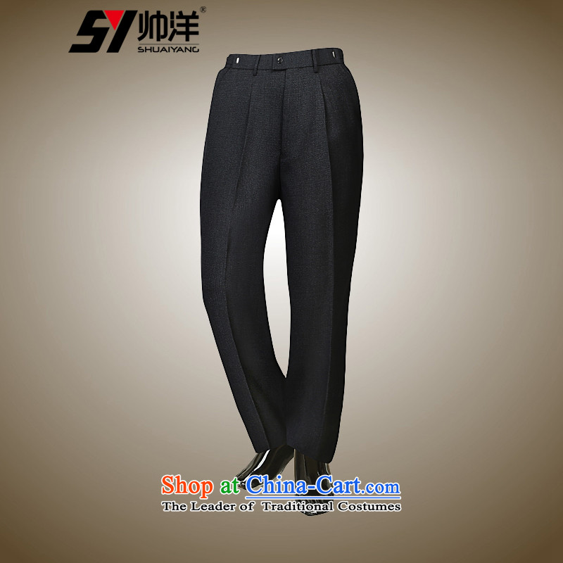 The new ocean handsome men Chinese tunic trousers national costumes and Tang dynasty China wind Spring and Autumn Chinese gray trousers?XXL