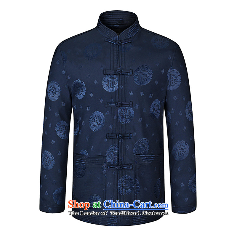 As well as the elderly in the Mr Tang blouses grandpa replacing spring and autumn middle-aged man jacket Tang dynasty wedding banquet father jackets, Spring and Autumn Navy Blue聽190