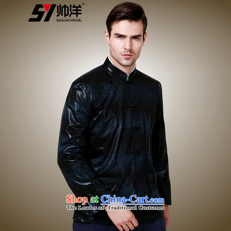 The Ocean 2015 Autumn Load Shuai New Men Tang dynasty China wind long-sleeve sweater in a mock-neck disc detained jacket in-kind color聽175