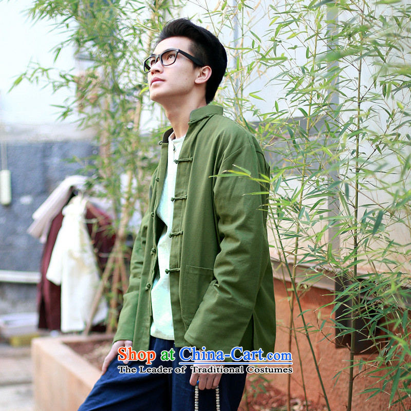 The autumn and winter new national costumes Tang dynasty men wearing long-sleeved jacket features Chinese tunic Tang JSL019YZ聽XXL, black spring Latitude , , , shopping on the Internet