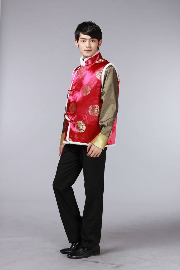 The autumn and winter new national costumes men Tang Dynasty Chinese tunic characteristics for winter clothing Chinese vest JSL015YZ Black聽XL Photo, prices, brand platters! The elections are supplied in the national character of distribution, so action, buy now enjoy more preferential! As soon as possible.