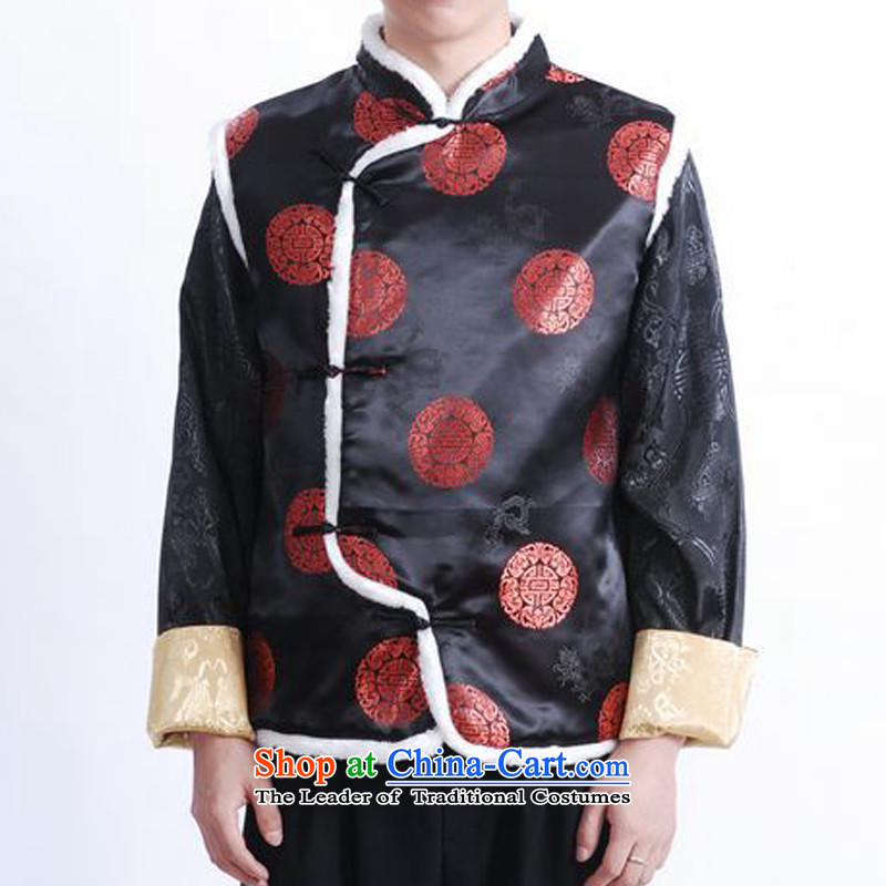 The autumn and winter new national costumes men Tang Dynasty Chinese tunic characteristics for winter clothing, a Chinese JSL015YZ large red聽XL, Spring Latitude , , , shopping on the Internet