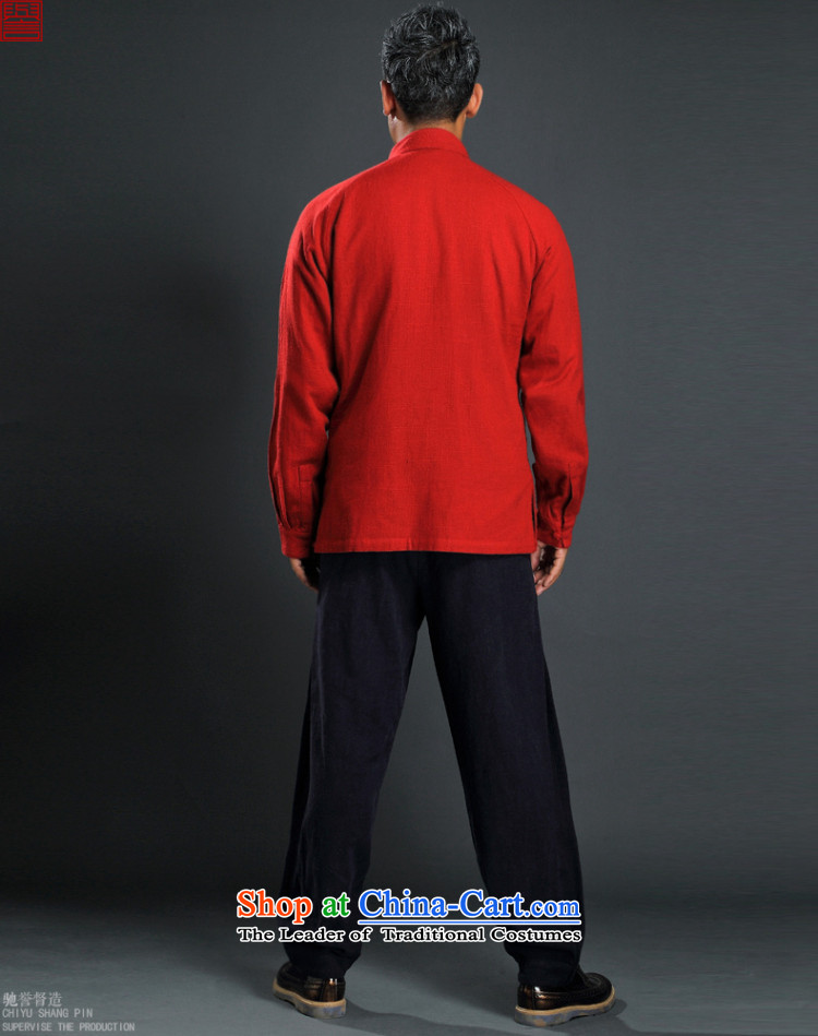 Renowned China wind up detained men Tang long-sleeved red male Han-linen leisure men loose Autumn Chinese red shirt cotton linen聽2XL Photo, prices, brand platters! The elections are supplied in the national character of distribution, so action, buy now enjoy more preferential! As soon as possible.